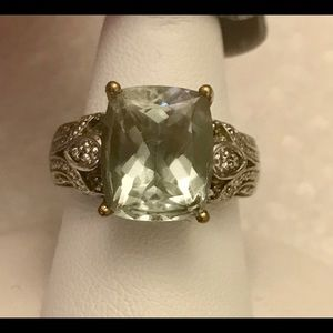 Jewelry - 4 1/2 Ct Natural green amethyst cocktail ring